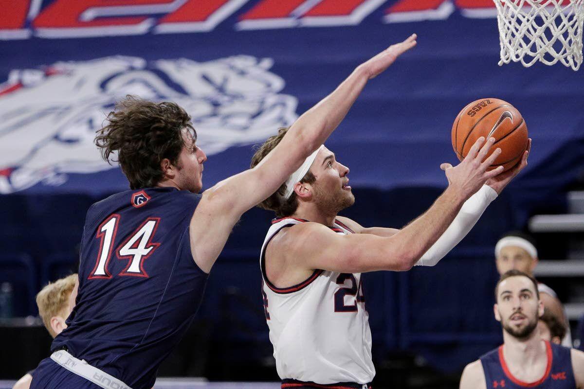 Kispert leads Gonzaga to win