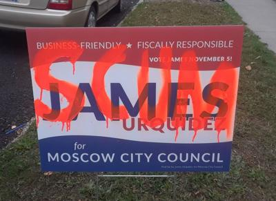 Yard signs vandalized