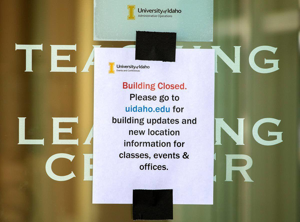 Idaho Student Union Building, TLC closed because of flooding