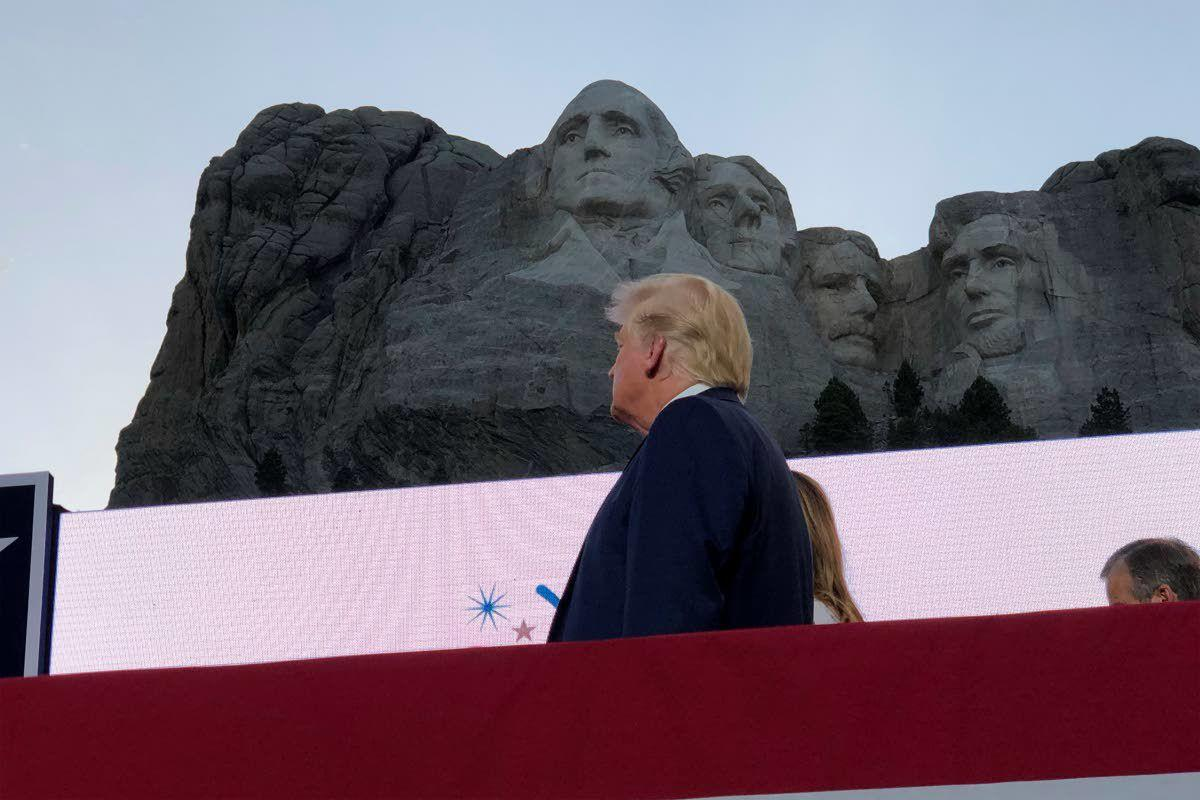 Trump pushes racial division at Rushmore