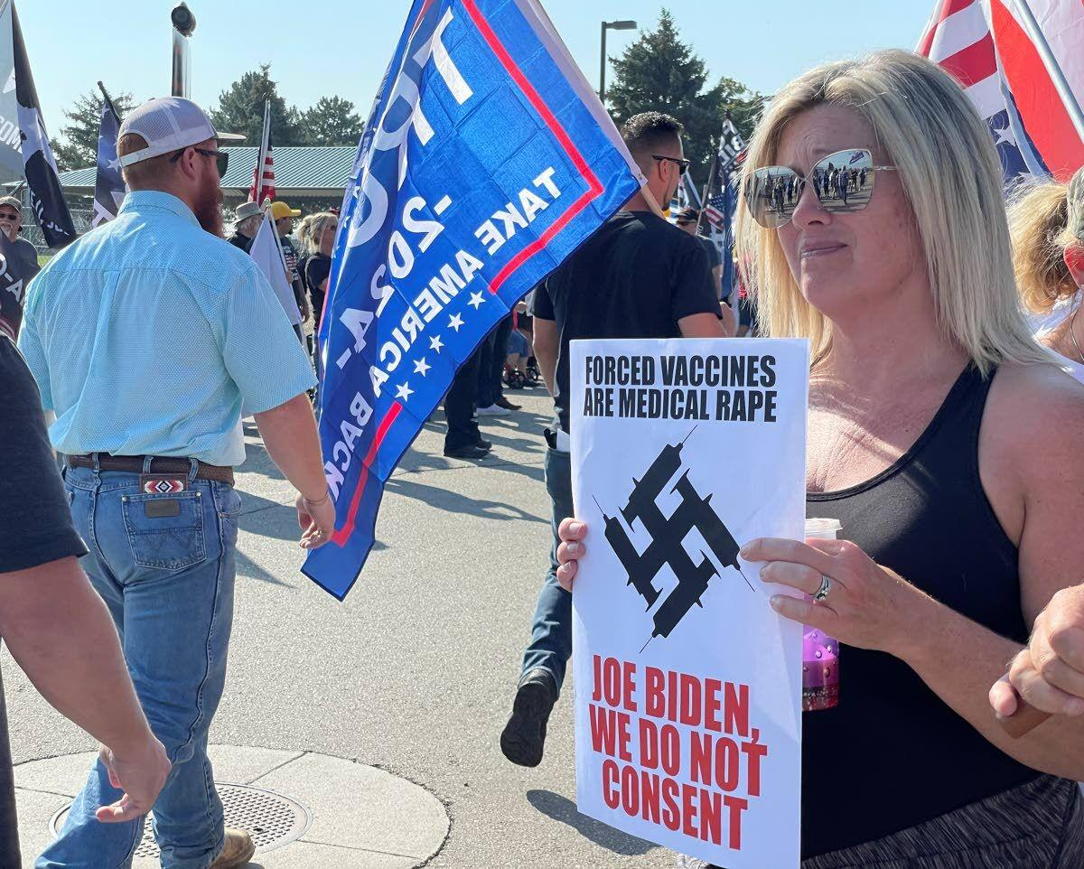 1,000 protest President Joe Biden's Idaho visit