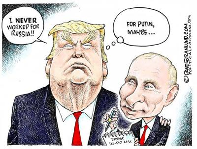 Political Cartoon Trump Denies Working For Russia Opinion Dnews Com