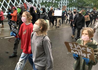 Pullman family protests in Seattle