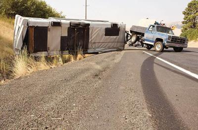 Travel trailer rolls in accident on US Highway 95 | Local