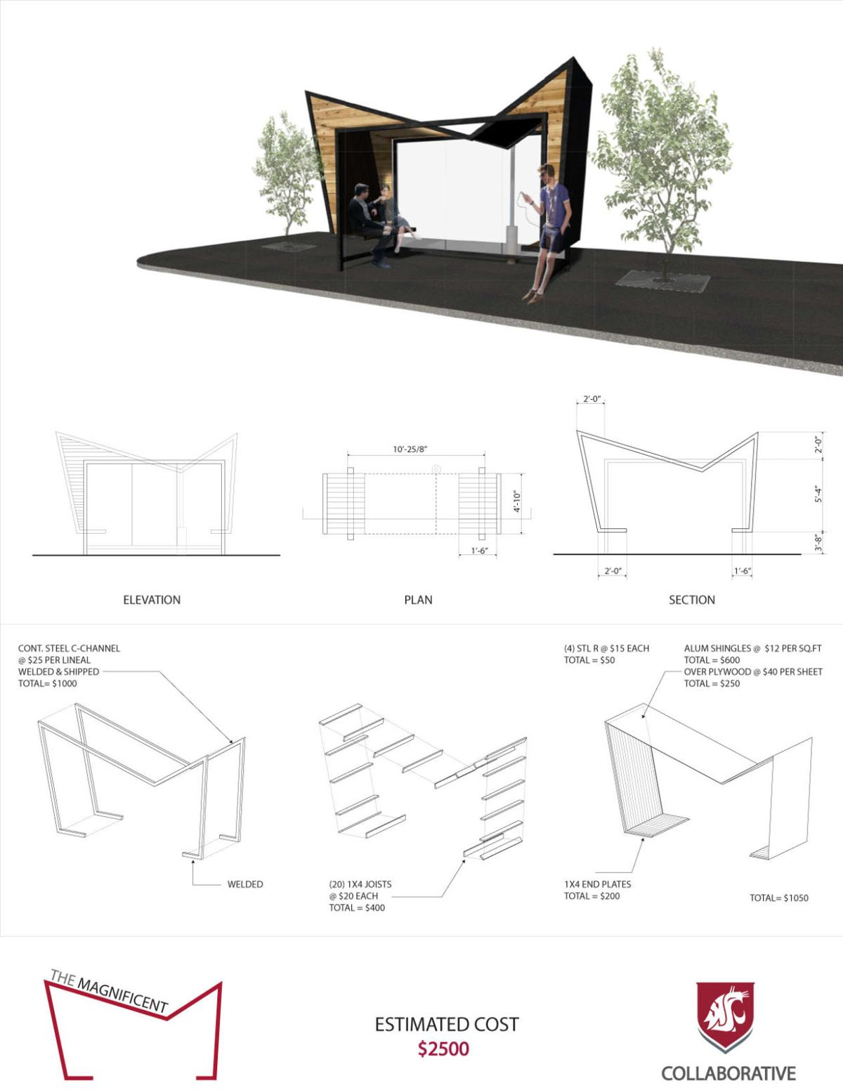Pullman Council Hears Ideas For Better Bus Stop Design Local Basketball Hoop Diagram