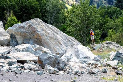 Stability of rockslide being studied