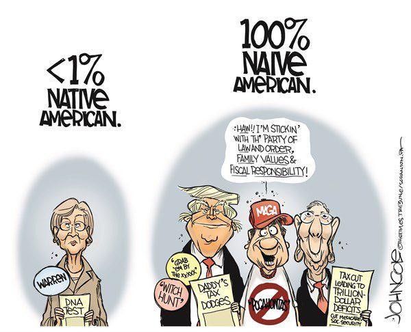 Political Cartoon Native Vs Naive Americans Opinion Dnews Com