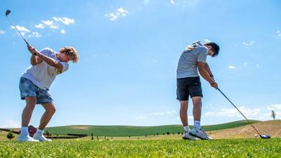 Sneak day golfing