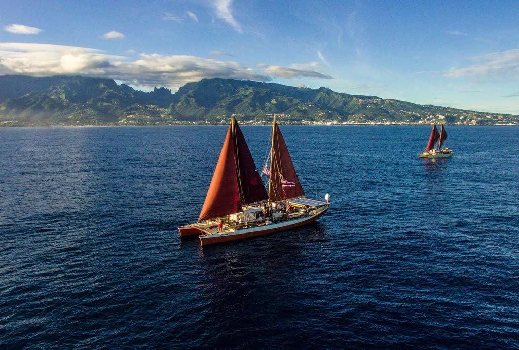Hawaiian outrigger canoes carry Native values