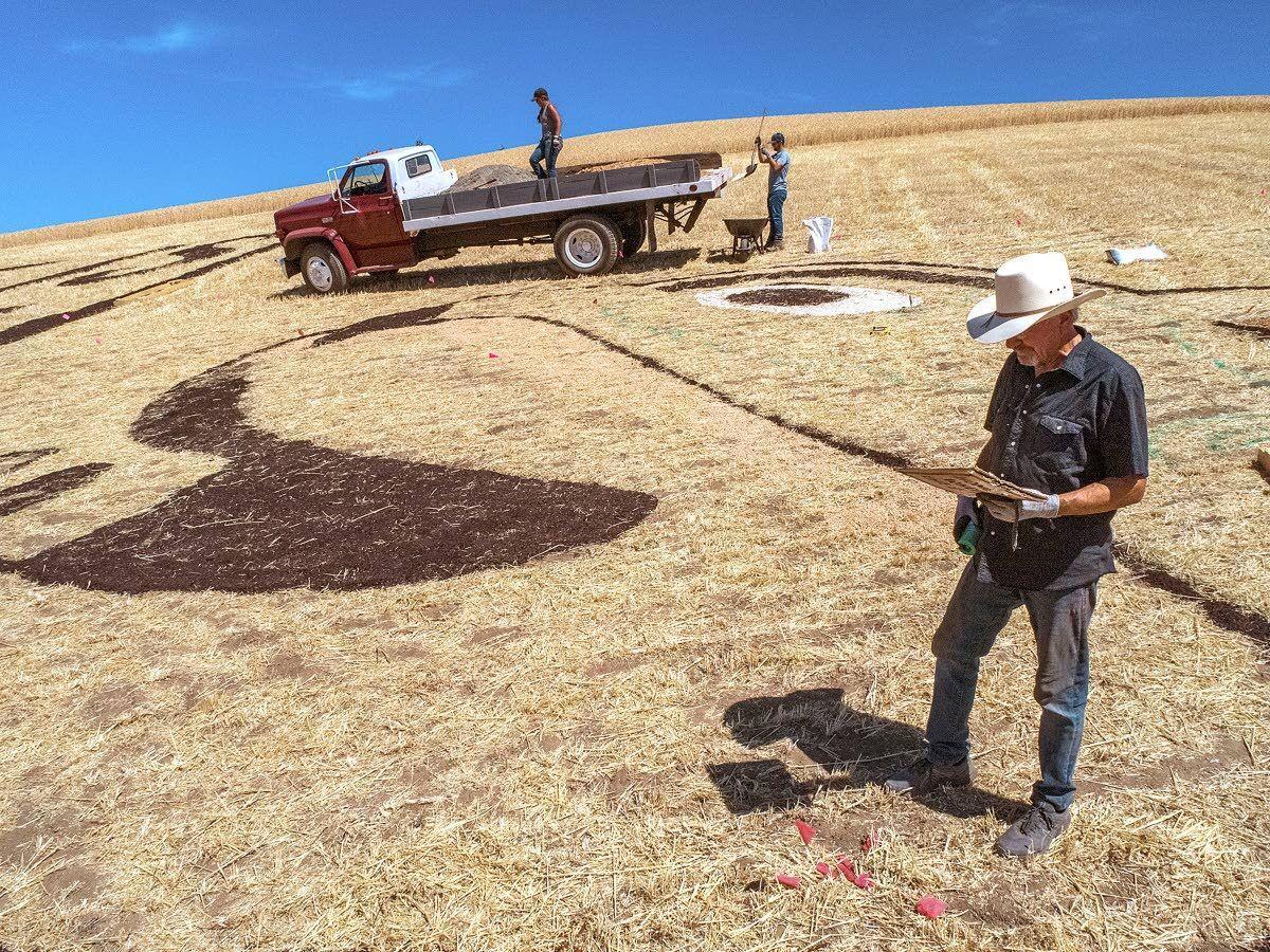 Butch paints the Palouse