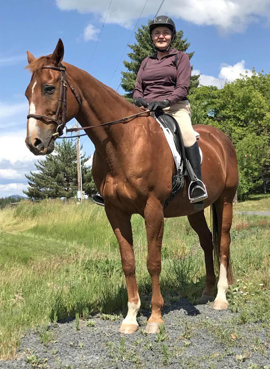 Riding horseback at 75