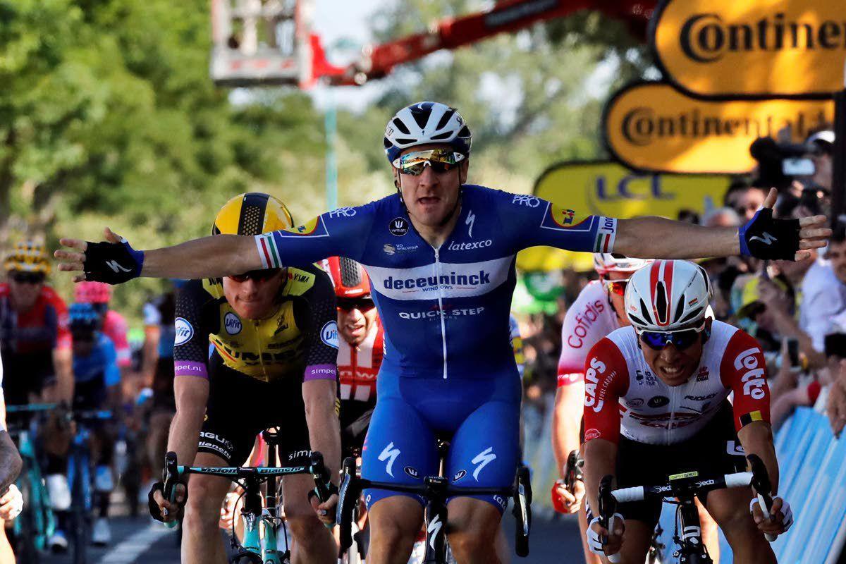 Tour de France: Viviani storms sprint, wins Stage 4