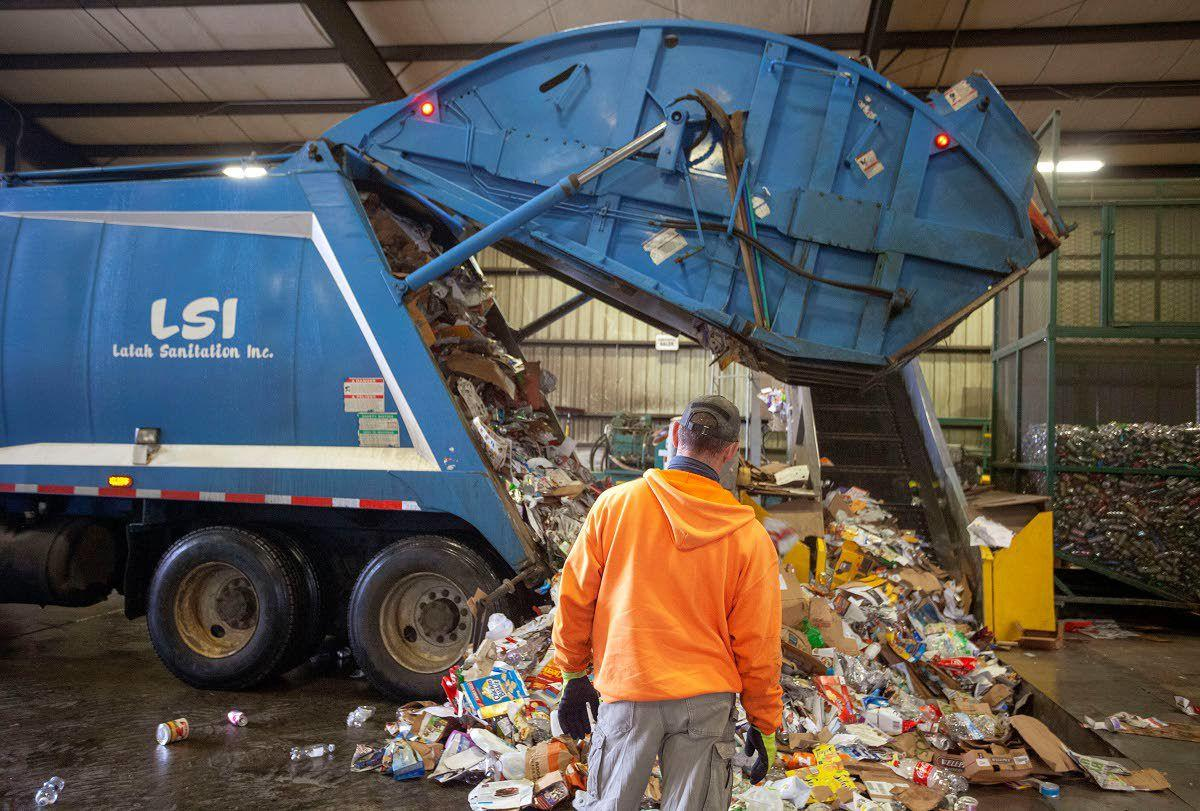 Moscow recycling center tonnage down, curbside recycling up