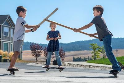 Sibling sword fight