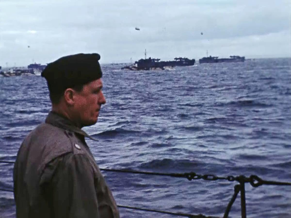 Rare color footage brings D-Day memories alive