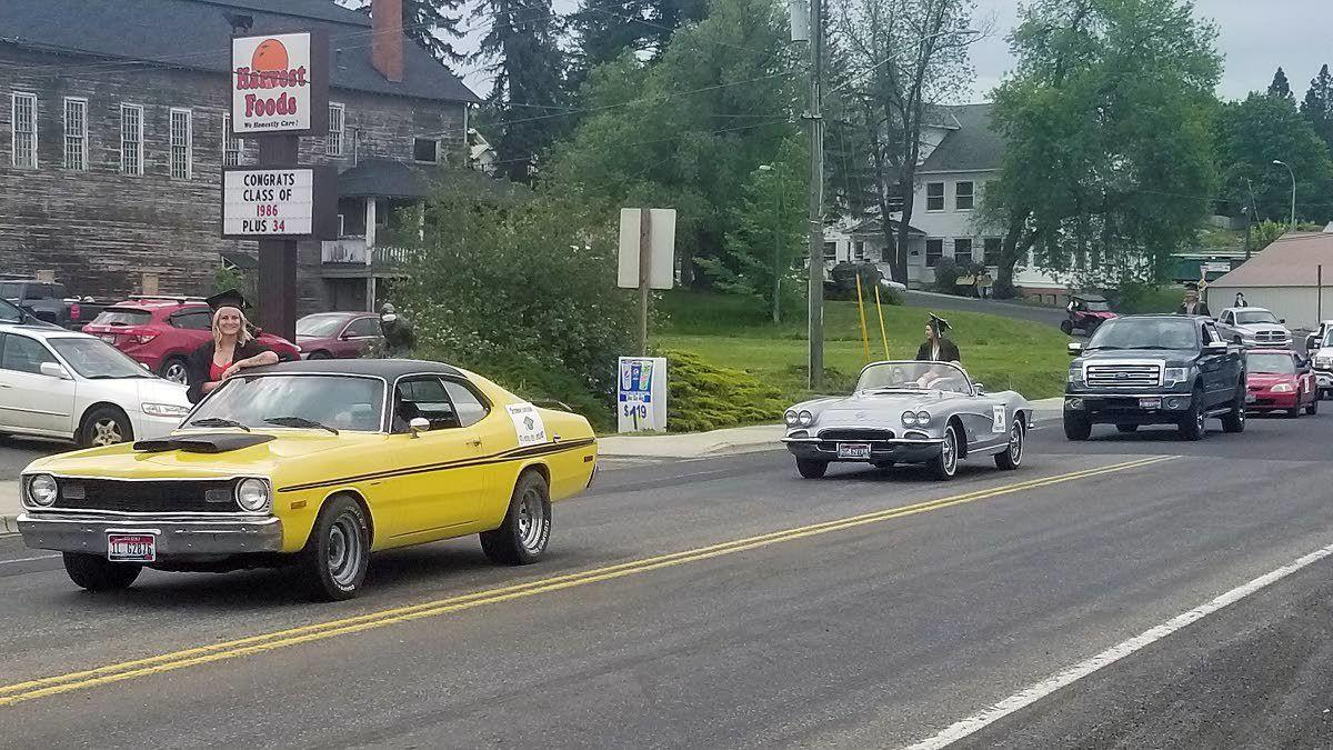 Logger seniors graduate in style with motorcade