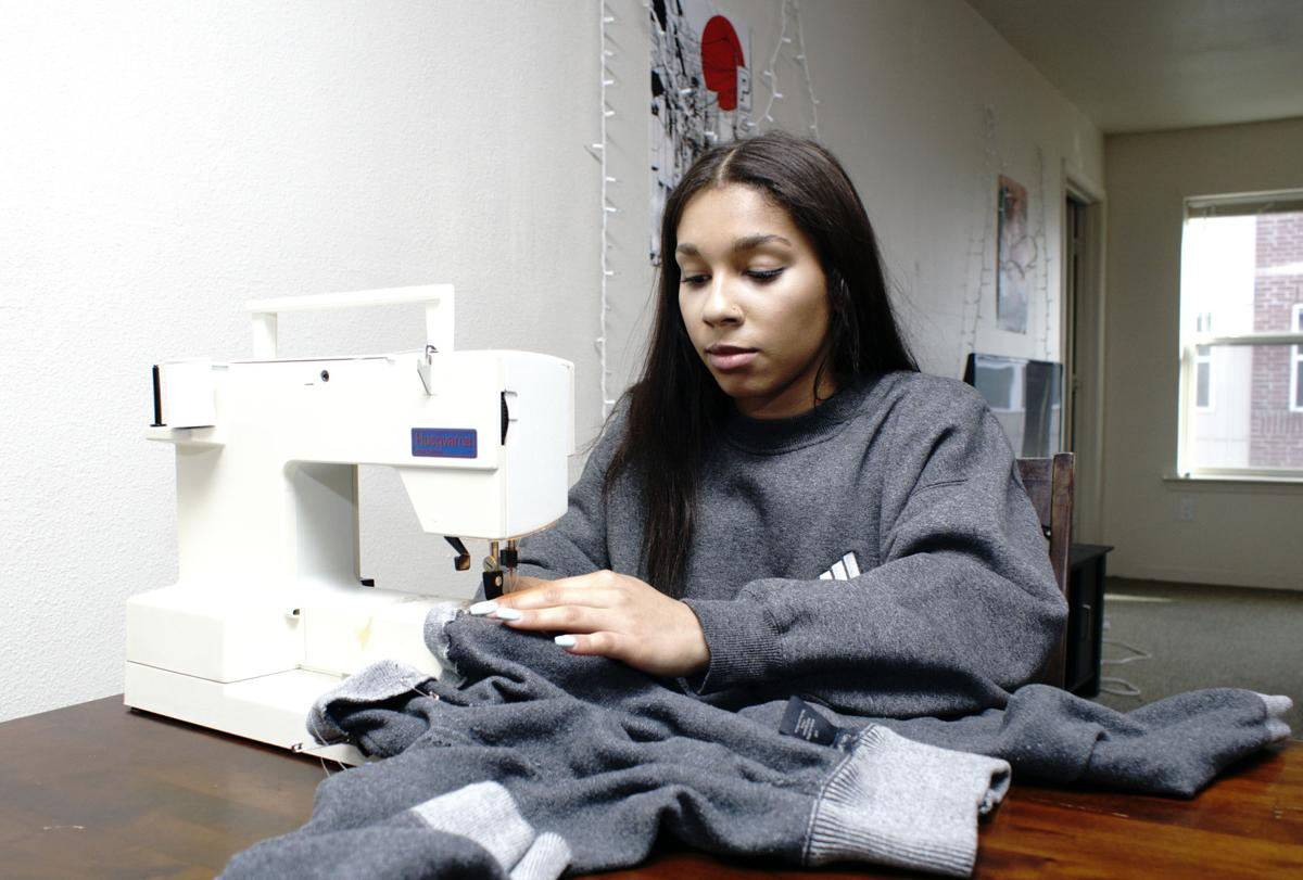 WSU student turns thrift shop shreds to new threads