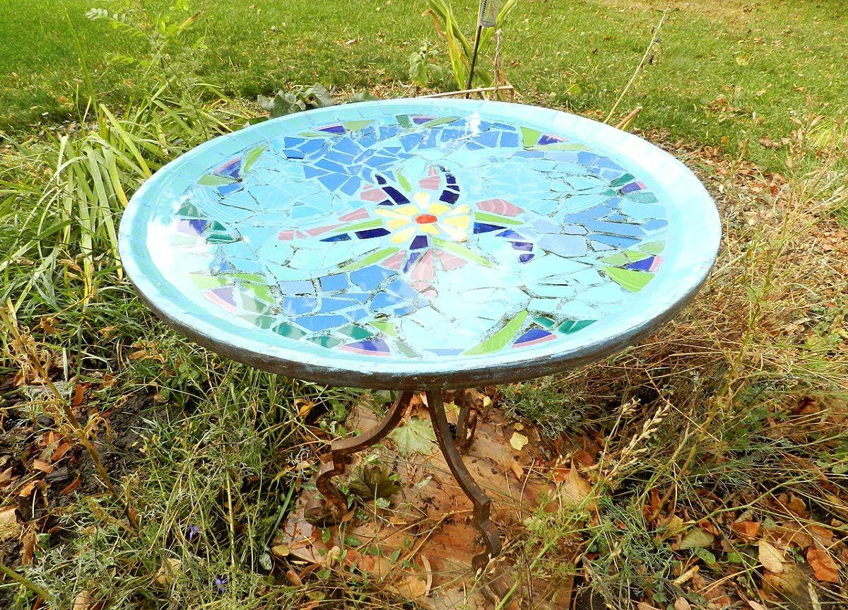 Birdbaths and the therapy of bashing things