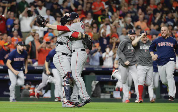 red sox finish off astros in 5 games head to world series sports rh dnews com