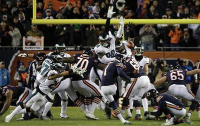 Eagles' Treyvon Hester no longer obscure after blocking field goal at Chicago