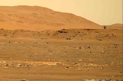 NASA helicopter heard humming through thin Martian air