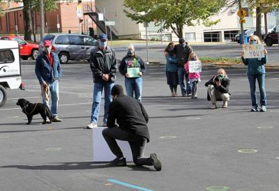 Small crowd gathers for 'Moment of Peace'