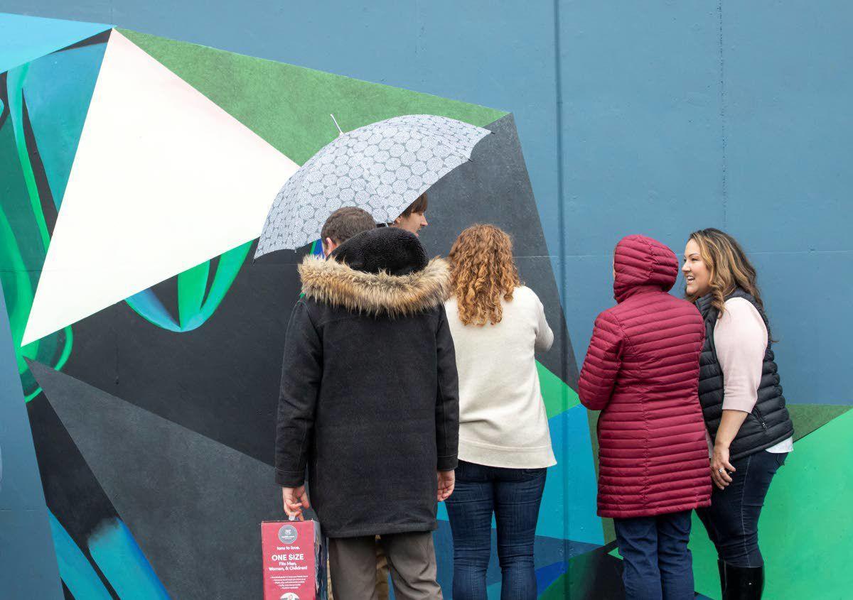 Kamiak Elementary mural blends science with art