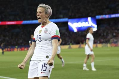 Rapinoe's two goals lift U.S. over France in World Cup quarterfinals