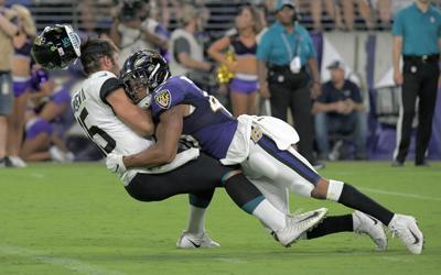 Minshew gets popped in NFL preseason debut