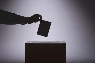Voting Hand Stock