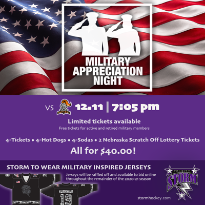 Storm to host annual Military Appreciation Night