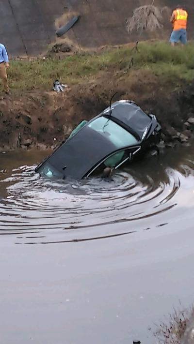 Vehicle submerged
