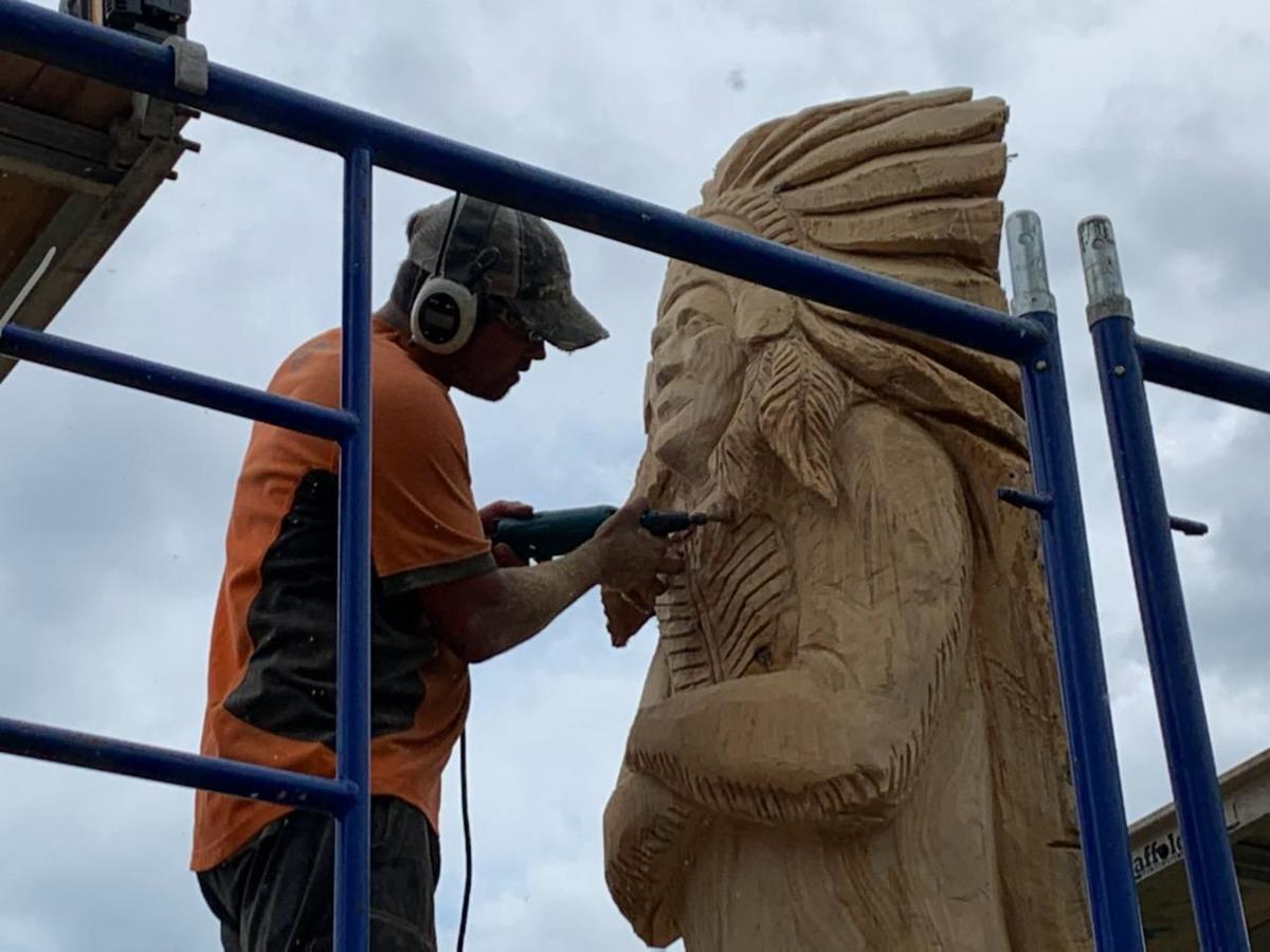 Totem fashioned to overlook Chipola