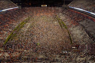 Fans on Pat Dye Field