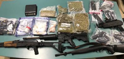 Drug weapons seizure