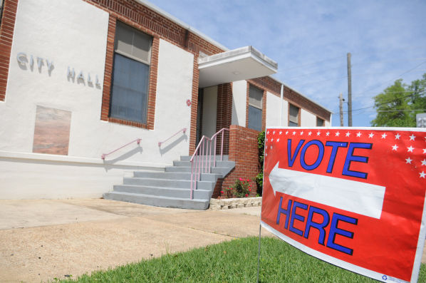 in this floridan file photo a sign directs voters to the polling place inside marianna city hall