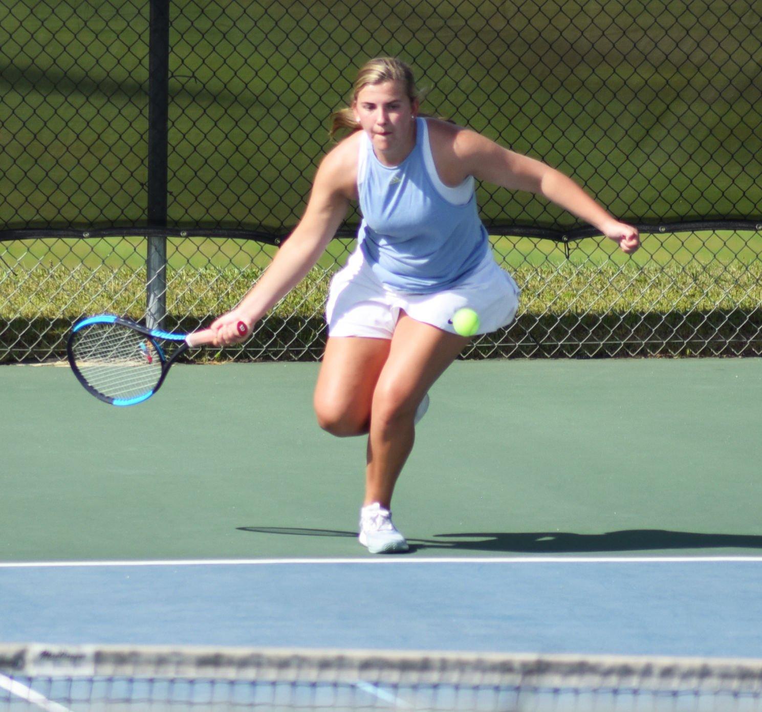 Enterprise tennis wins final home game