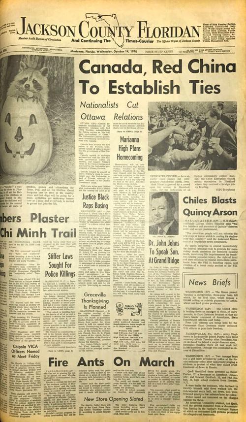 Floridan archives: Oct. 14, 1970