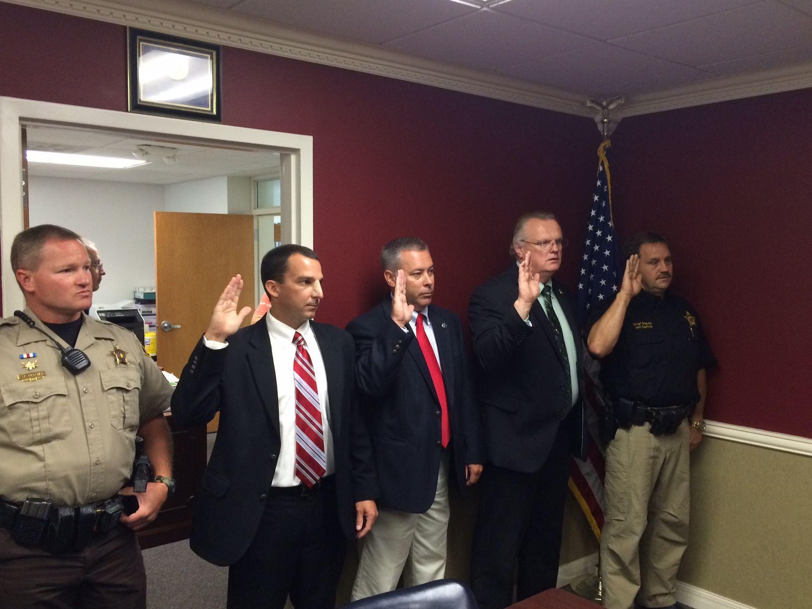 Deputies sworn in Houston County Sheriff Don