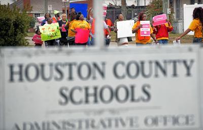 Houston County Schools protest