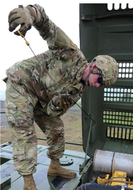 contributed spc james veara a horizontal construction engineer with the 186th engineer company alabama national guard conducts preventative maintenance