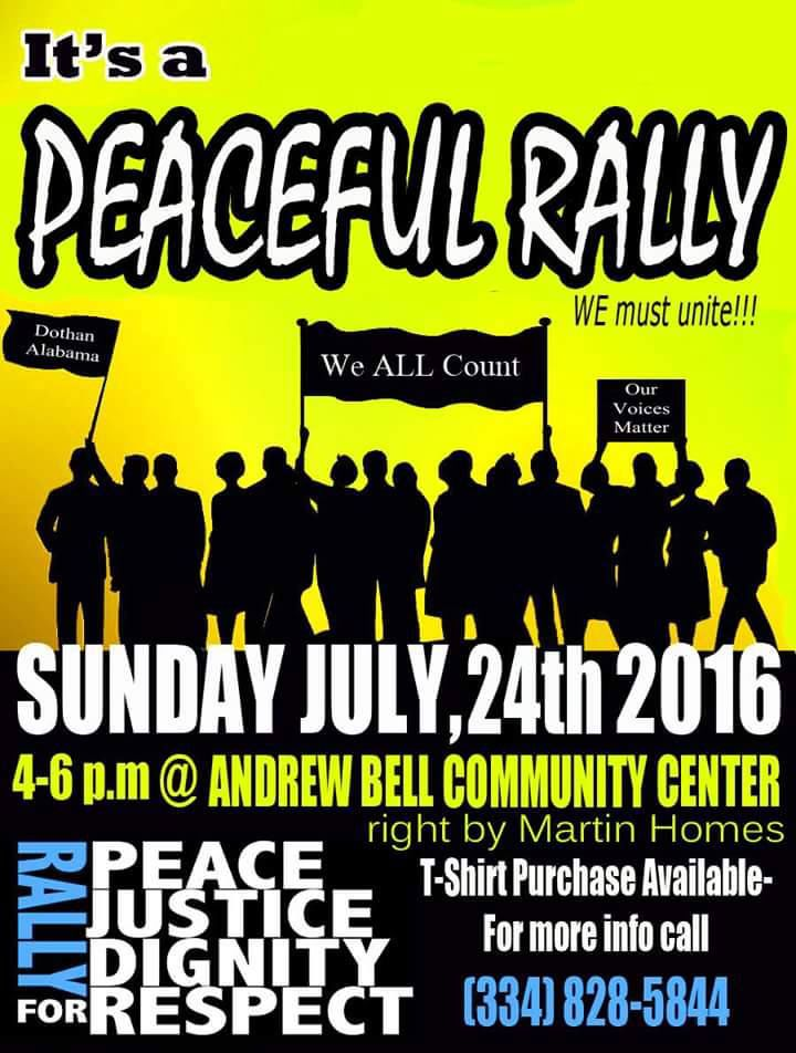 peaceful rally to be held sunday in dothan local