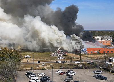 Fire destroys Meadow Gold building