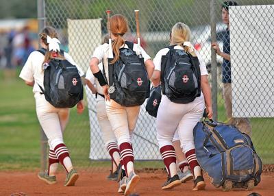 Girls prep softball