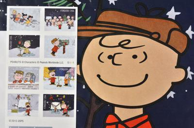 Send 'Charlie Brown' cheer with your cards and packages this