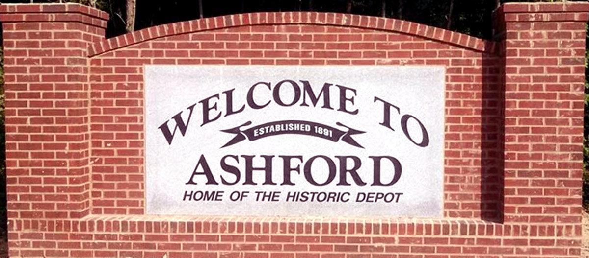 City of Ashford sign