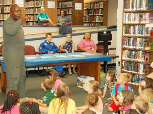 Aspiring aviators attend library 'flight school'