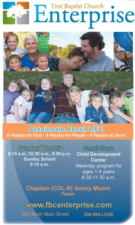 First Baptist Church Enterprise Ad