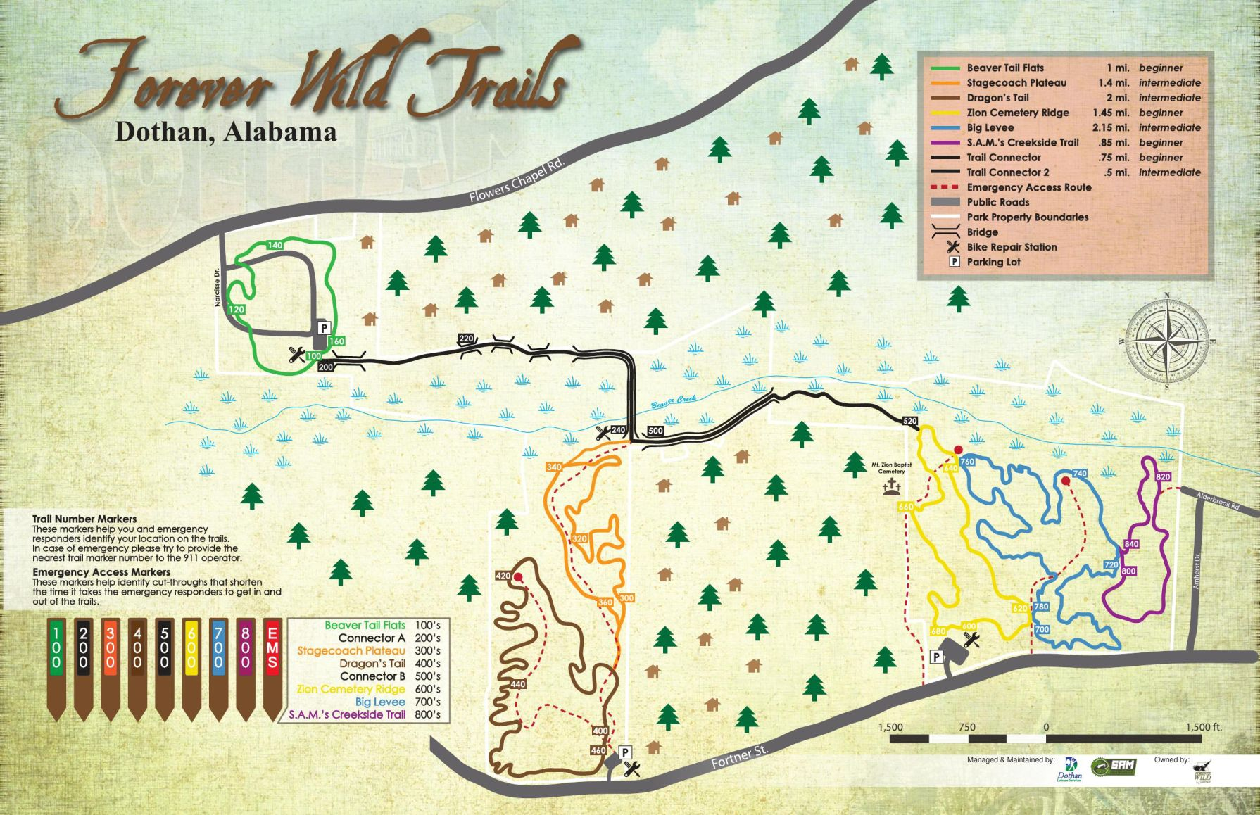 Forever Wild trails map Local dothaneaglecom