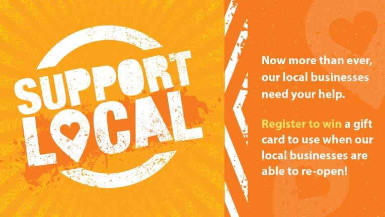 Enter for a chance to win a gift card during our Support Local sweepstakes!